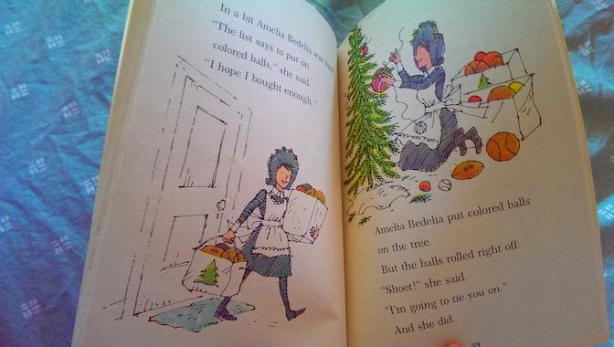 Merry Christmas Amelia Bedelia Balls on Tree